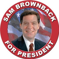 sam_brownback_for_president_oval_decal