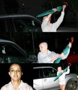 Britney Spears during her 2007 Freakout